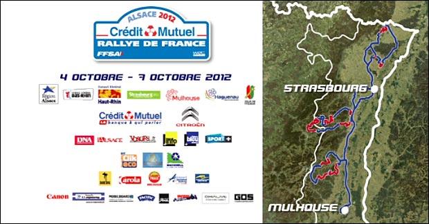 carte Rallye de France 2012 Alsace WRC Strasbourg Haguenau Mulhouse Vosges