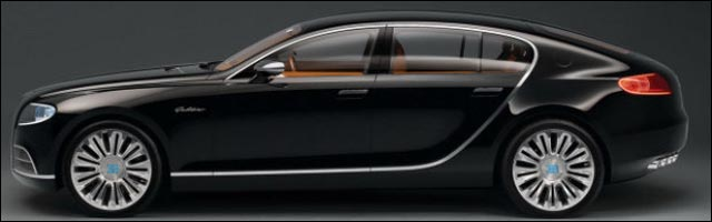 photo nouvelle Bugatti 16C Galibier concept car 2013 berline supercar Molsheim