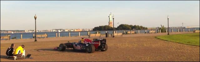 hymne américain joué par une Formule 1 video hd buzz Red Bull energydrink