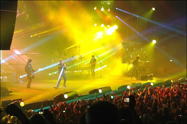 photo concert Johnny Hallyday Foire aux Vins de Colmar 2012 show FAV
