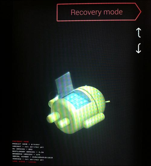 tutoriel reset recovery mode acceder bootloader Google Asus Nexus 7 Android