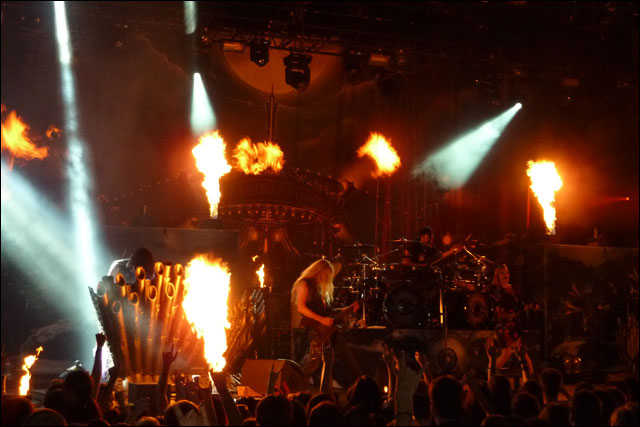 photo video HD concert Within Temptation live Foire aux Vins de Colmar 2012 FAV