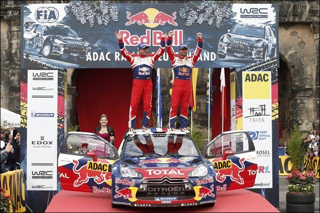 photo video hd victoire Sebastien Loeb et Daniel Elena au Rallye Allemagne 2012