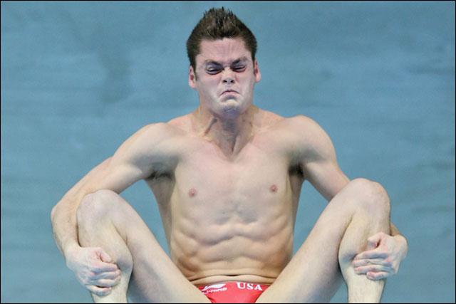 photo insolite nageur plongeon natation Jeux Olympiques 2012 Londres Chine