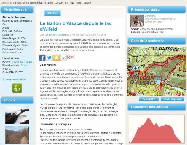 visorando site communautaire pour preparer et partager ses randonnees montagne
