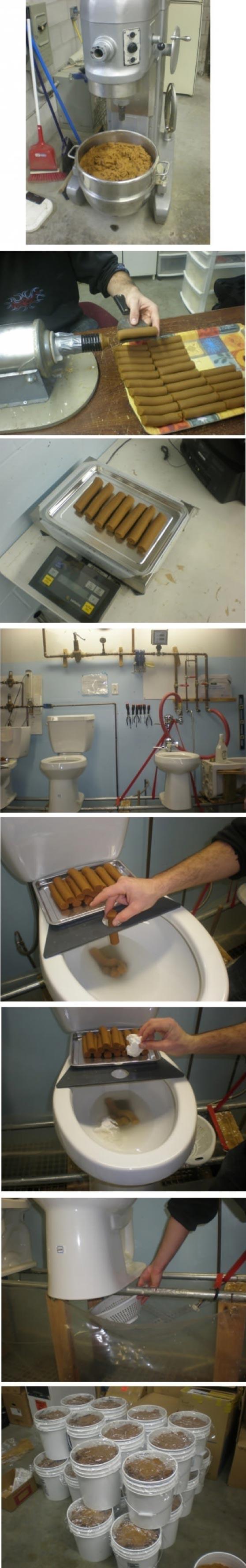 pire metier du monde testeur de toilettes WC fabriquer faux caca merde