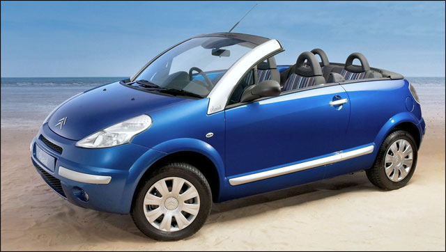 photo Citroen C3 Pluriel voiture cabriolet decouvrable pickup spider modulable