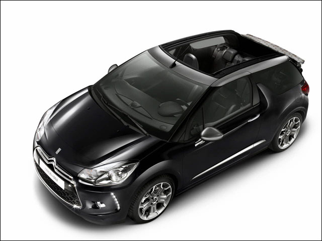 photo hd Citroen DS3 cabriolet toit decapotable decouvrable