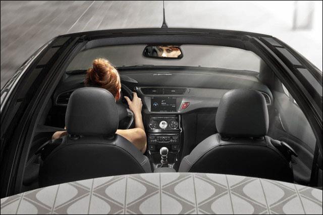 photo video hd Citroen DS3 cabriolet toit decapotable decouvrable