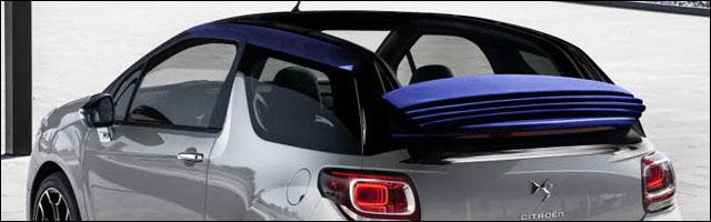 photo hd Citroen DS3 cabriolet toit decapotable decouvrable