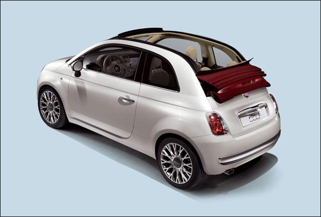 photo Fiat 500C pas cabriolet mais decouvrable toit toile couleur personnalisee