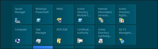 Windows Server 2012 desktop menu demarrer metro like Windows 8 screenshot