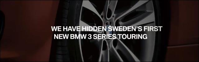 jeu interactif BMW Google Maps pour nouvelle Serie 3 Touring break