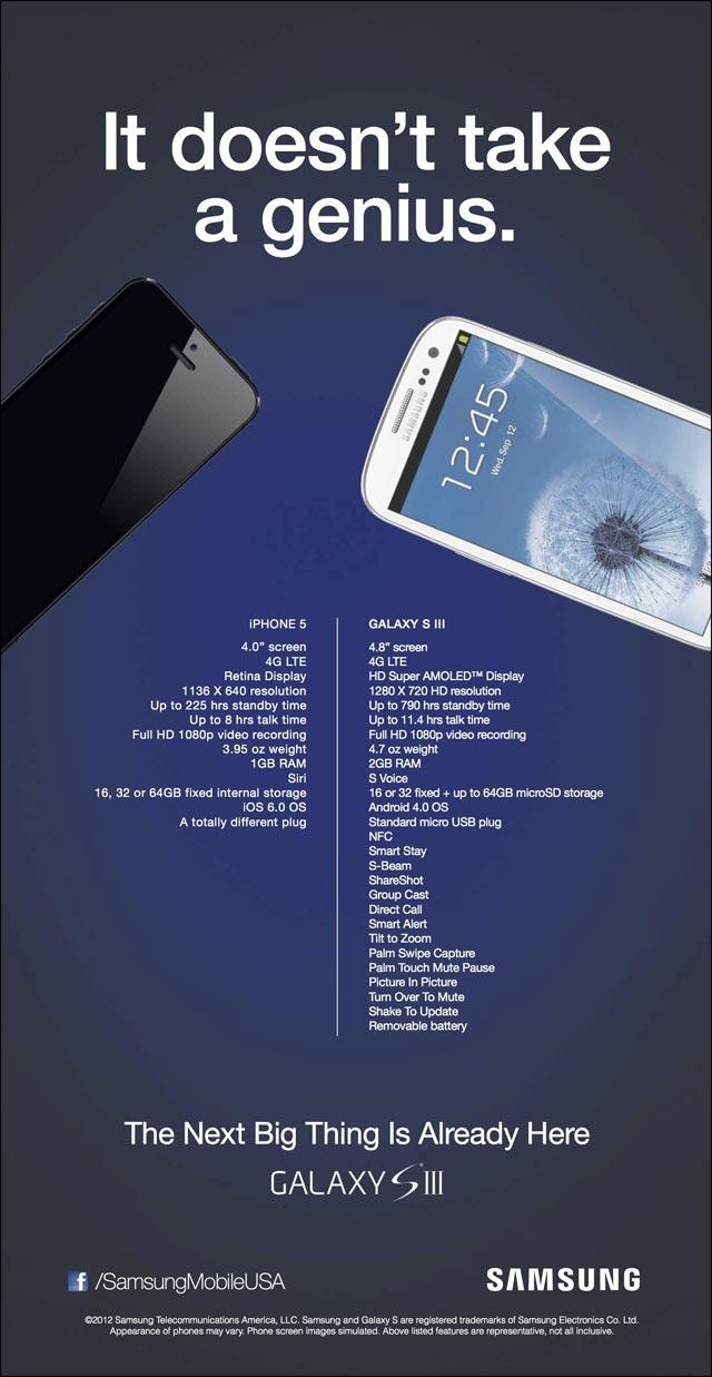 comparatif technique caracteristiques iphone 5 samsung galaxy s3 ip5 vs gs3