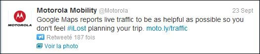 Motorola tweet iPhone5 fail maps