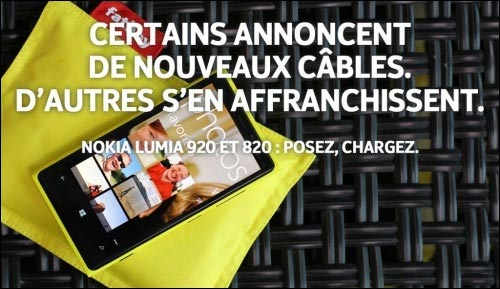 Nokia Lumia vs iPhone recharge sans fil chargeur wireless smartphone