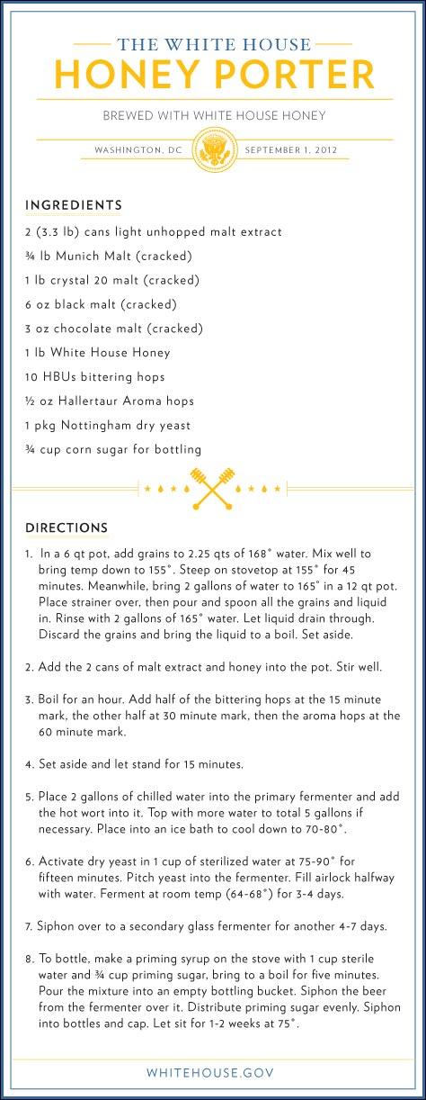 Barack Obama biere recette Maison Blanche USA video