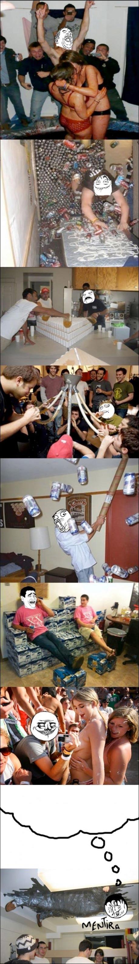 photos cliches de la vie etudiante mythe realite fete alcool fille nichon barathon