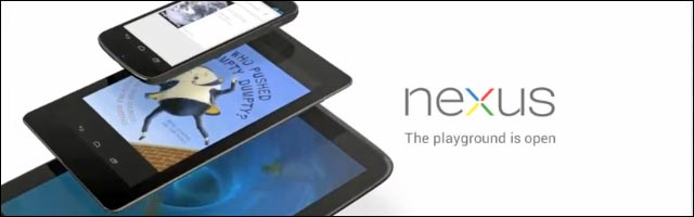 Google Nexus 4 smartphone et tablet 7 10 pouces made by Asus LG Samsung