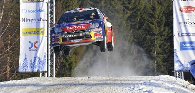 Sebastien Loeb belle photo Citroen DS3 WRC rallye 2012