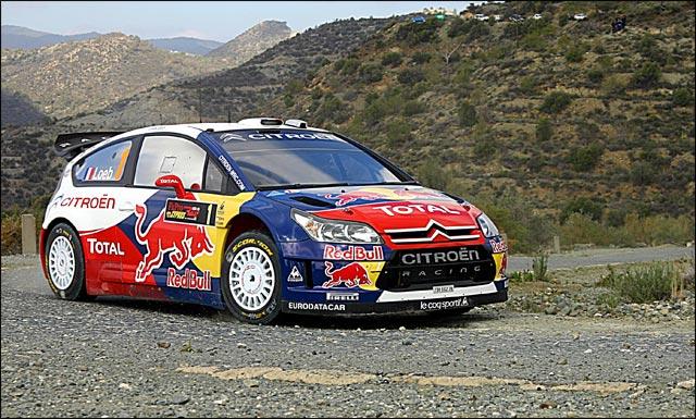Sebastien Loeb photo Citroen C4 WRC rallye asphalte macadam tarmac route