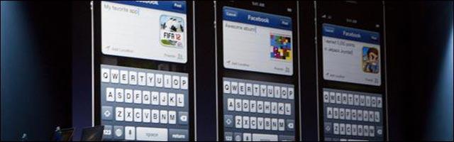 tutoriel guide integration Facebook dans iOS avec Siri pour iPhone 4S et 5