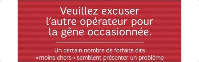 publicite SFR contre Free Mobile et Orange