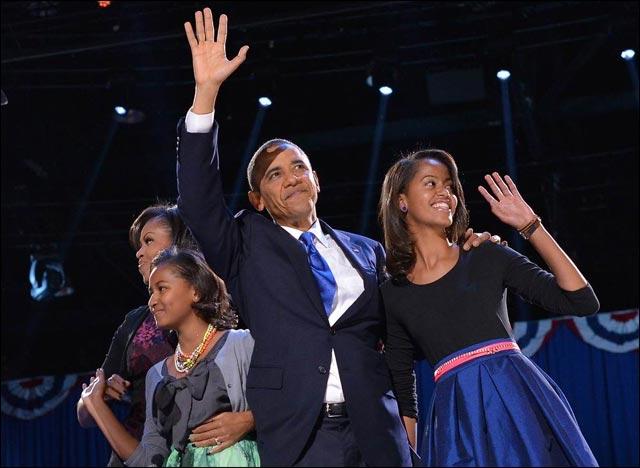 photo Michelle Obama et Barack Obama ensemble apres victoire Chicago