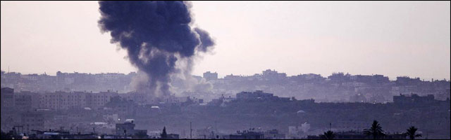 situation guerre bande de Gaza prise de son lance roquette missile novembre 2012