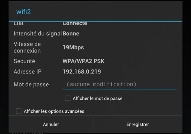 configurer proxy internet connexion wifi Android smartphone tablette Nexus