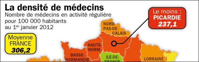 carte de France des deserts medicaux medecin generaliste zone rurale