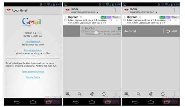 nouvelle application mobile Android pour smartphone et tablette Nexus