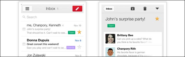 nouvelle application mobile Gmail