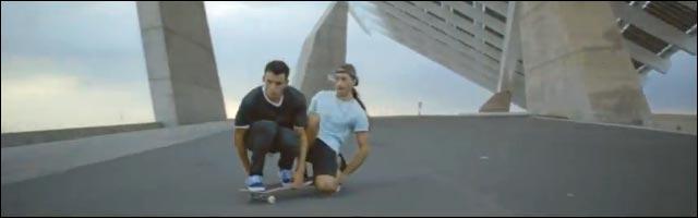 skate siamois Kilian Martin et Alfredo Urbon