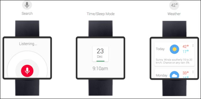 Google Time Watch montre smartwatch