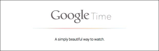 Google Watch Time montre intelligente smartwatch