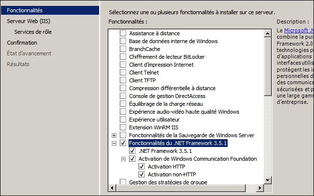 installation SQL Server 2008 sur Windows Server 2008 R2