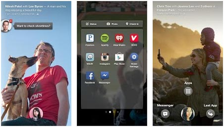 application Facebook Home Android