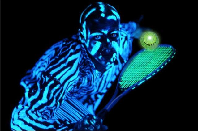 Speedminton nuit jeu raquette volant