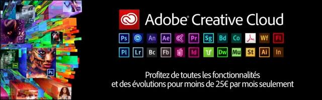 Adobe Creative Cloud CC tarif prix licence abonnement
