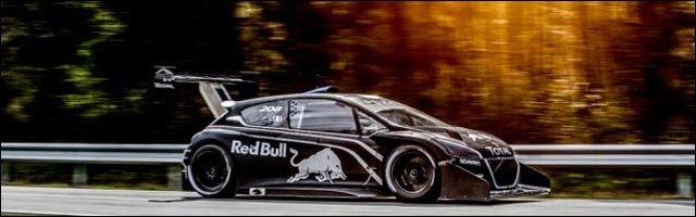 Peugeot 208 T16 Pikes Peak essai circuit video hd