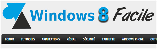 WindowsFacile logo tutoriel simple pour Windows 8 ordinateur tablette smartphone serveur