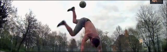 video hd breakdance freestyle football