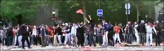 actualite violente scene pillage casseur Paris PSG foot