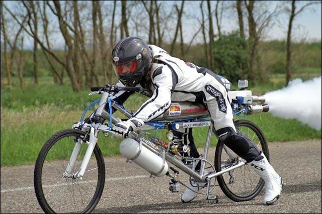 VTT velo fusee hydrogene record du monde vitesse