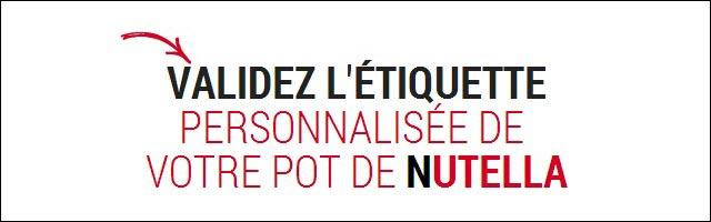 personnaliser etiquette pot Nutella gratuit