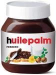 etiquette pot Nutella huile de palme