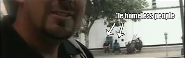 troll police sans abris SDF