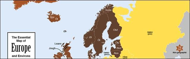 carte Europe biere map