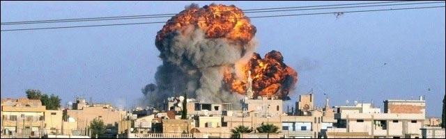 guerre en Syrie Alep bombe